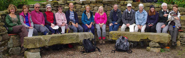 Hornsea District Walking Club/Dale Head Farm, Rosedale/photo by Arnold Underwood/23rd Sept 2012