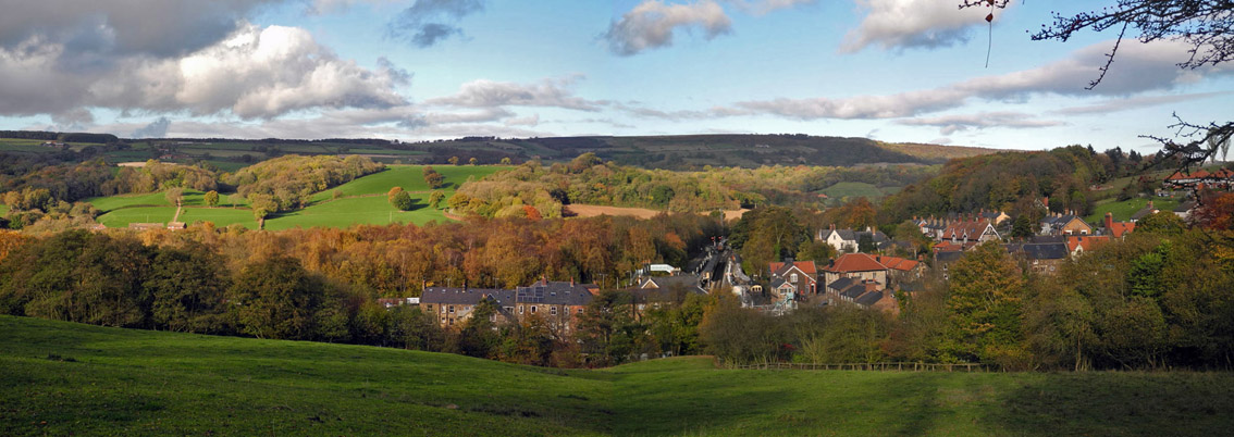 Panoramic view over Grosmont, 4th Nov 2016/Photo © Arnold Underwood