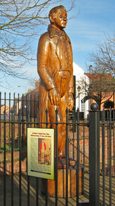 The statue of Giant Bradley in Market Weighton/ from a photo by Arnold Underwood, 27th Feb 2011