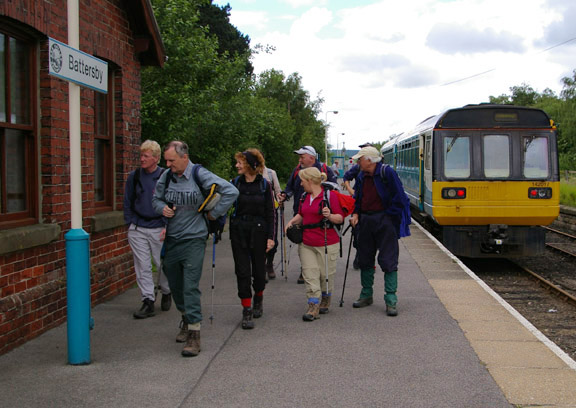 Setting off from Battersby station/from a photo by Arnold Underwood/June 2007