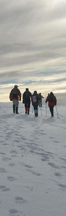 Above Millington in the snow/Photo © Arnold Underwood,HWC 9th Feb 2009