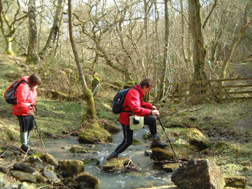 Negotiating the raging torrent, Raygate Slack!/from a photo by Arnold Underwood/2005