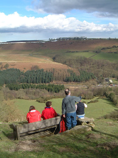 Looking across Newtondale towards Levisham/photo by Arnold Underwood, March 2005